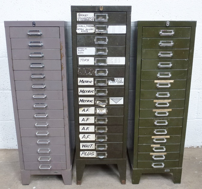 15 DRAW STEEL CABINETS