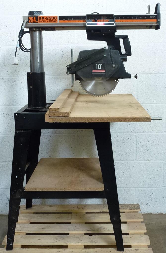 RYOBI RA-2500 RADIAL ARM SAW « Pennyfarthing Tools Ltd