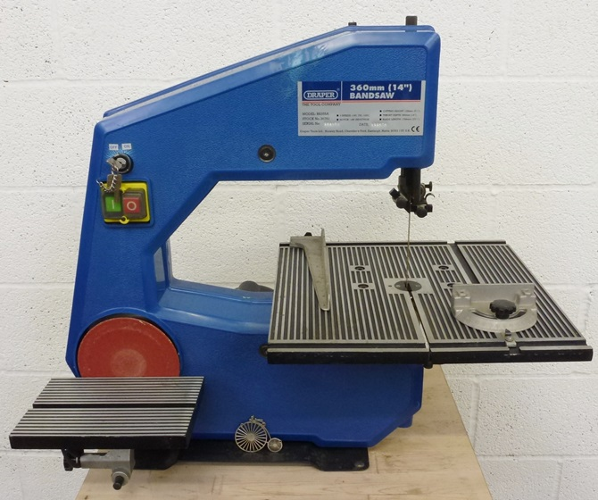 DRAPER 3 WHEEL BANDSAW 355A « Pennyfarthing Tools Ltd