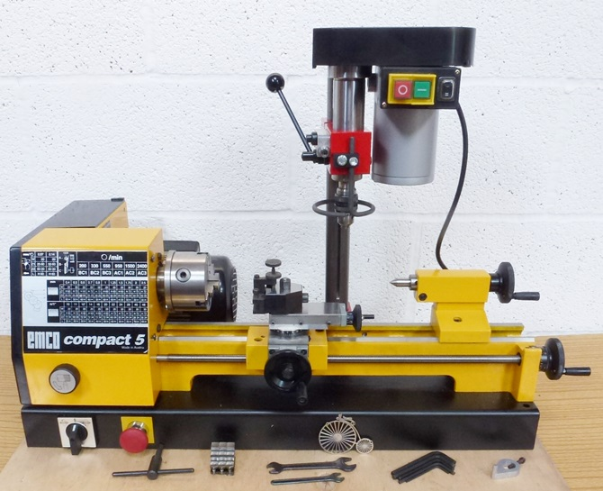 EMCO COMPACT 5 LATHE AND MILL « Pennyfarthing Tools Ltd